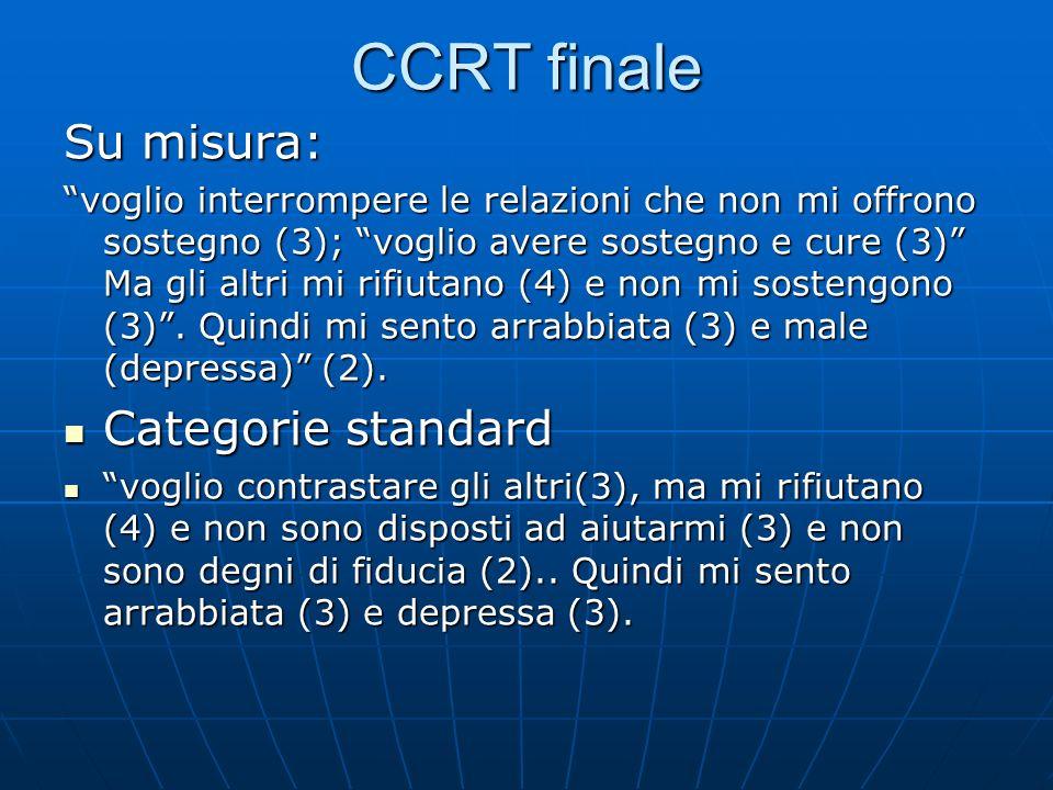 CCRT finale Su misura: Categorie standard