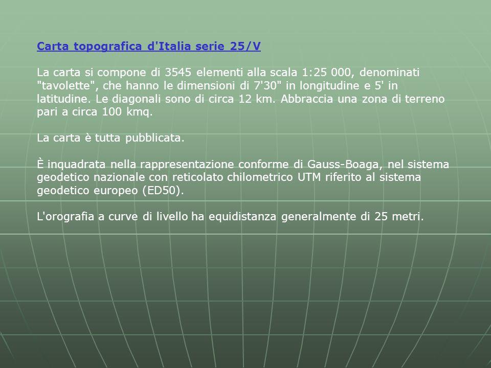 Carta topografica d Italia serie 25/V