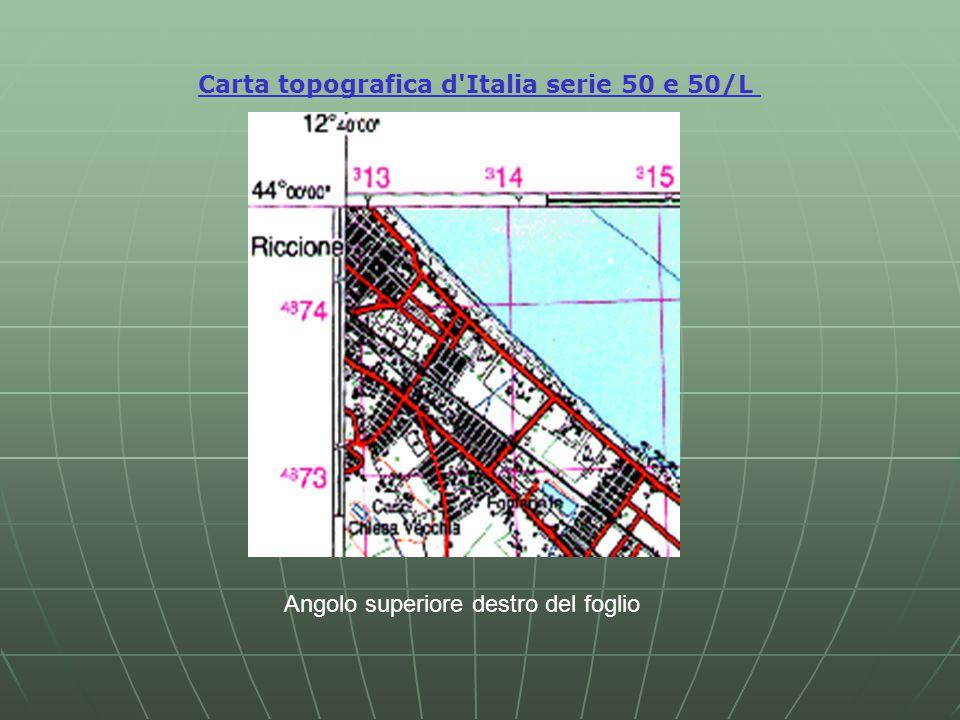 Carta topografica d Italia serie 50 e 50/L