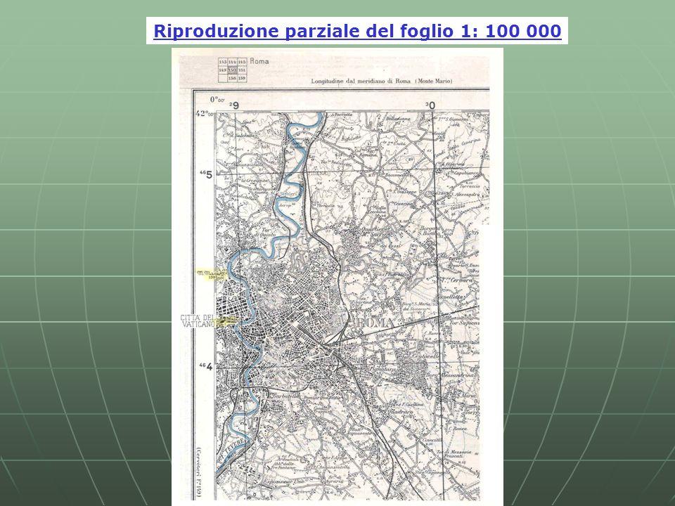 Riproduzione parziale del foglio 1: 100 000