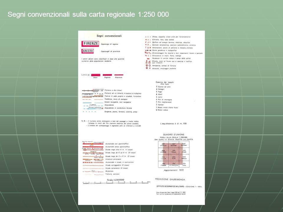 Segni convenzionali sulla carta regionale 1:250 000