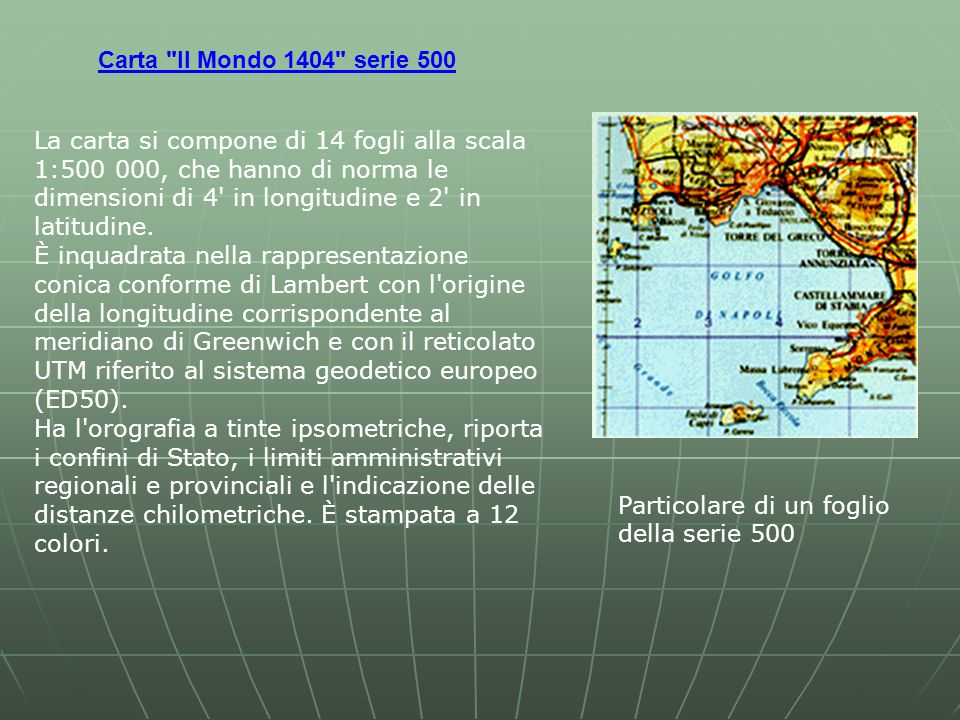 Carta Il Mondo 1404 serie 500