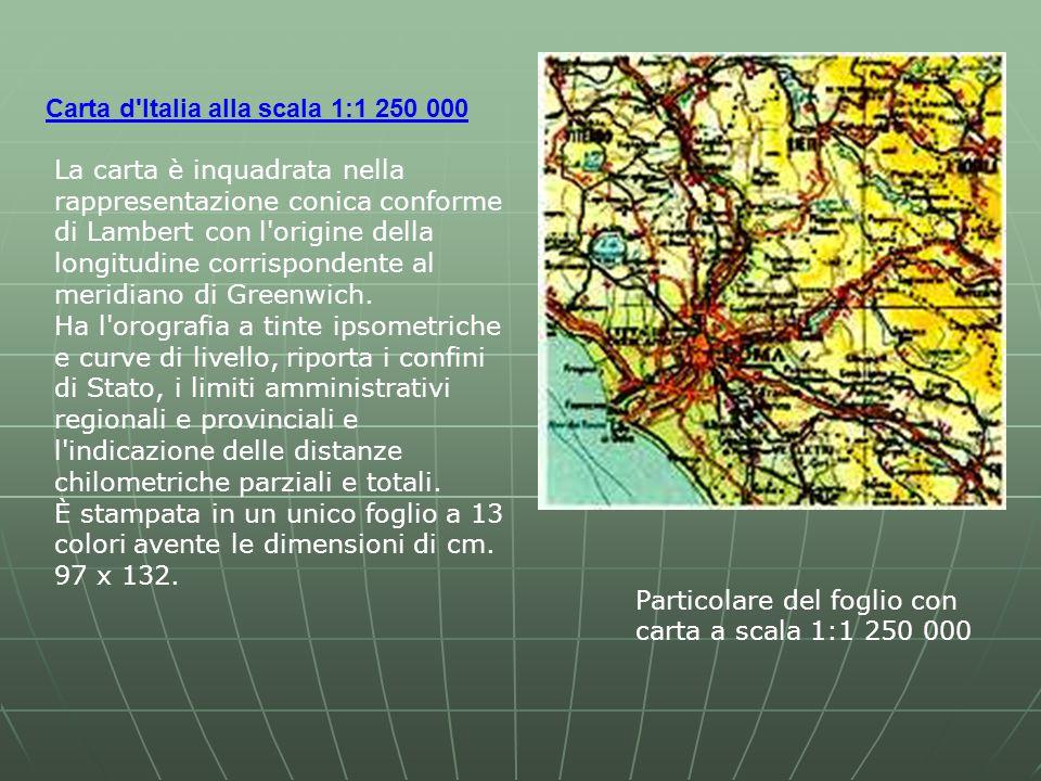 Carta d Italia alla scala 1:1 250 000
