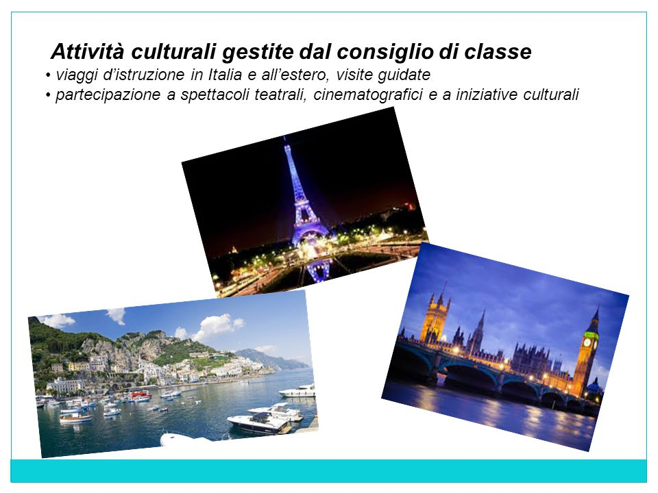 Attività culturali gestite dal consiglio di classe