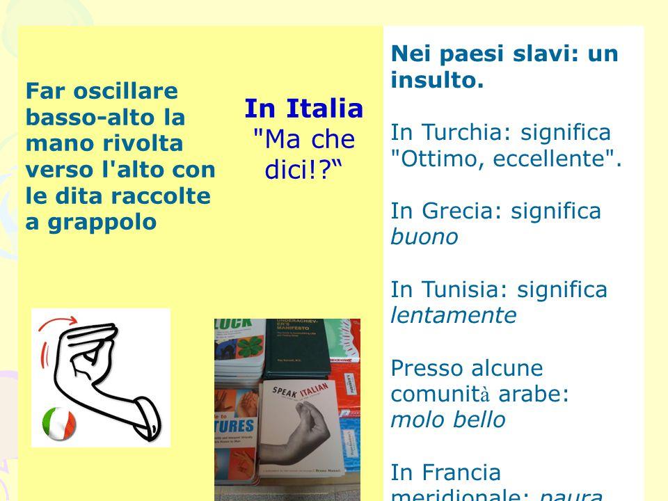 In Italia Ma che dici! Nei paesi slavi: un insulto.
