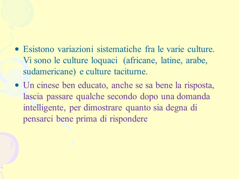 Esistono variazioni sistematiche fra le varie culture