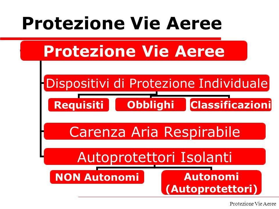 Protezione Vie Aeree Protezione Vie Aeree A cura del GECAV