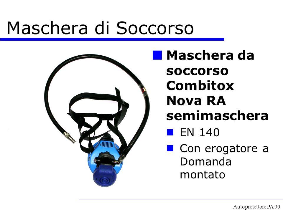 A cura del GECAV Maschera di Soccorso. Maschera da soccorso Combitox Nova RA semimaschera. EN 140.
