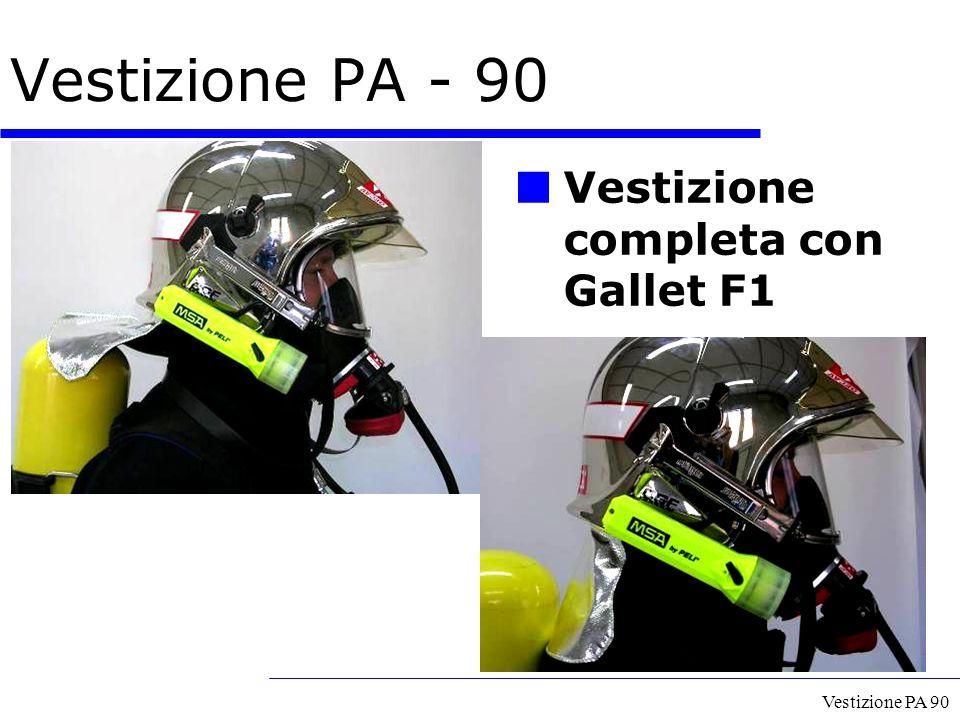 Vestizione PA - 90 Vestizione completa con Gallet F1 Vestizione PA 90