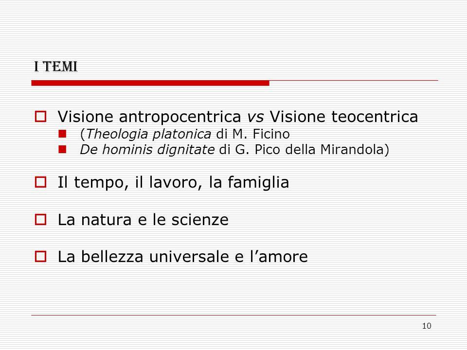 Visione antropocentrica vs Visione teocentrica