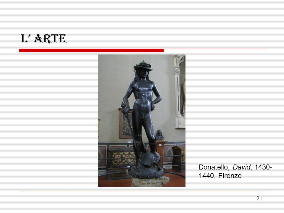 L' arte Donatello, David, 1430-1440, Firenze