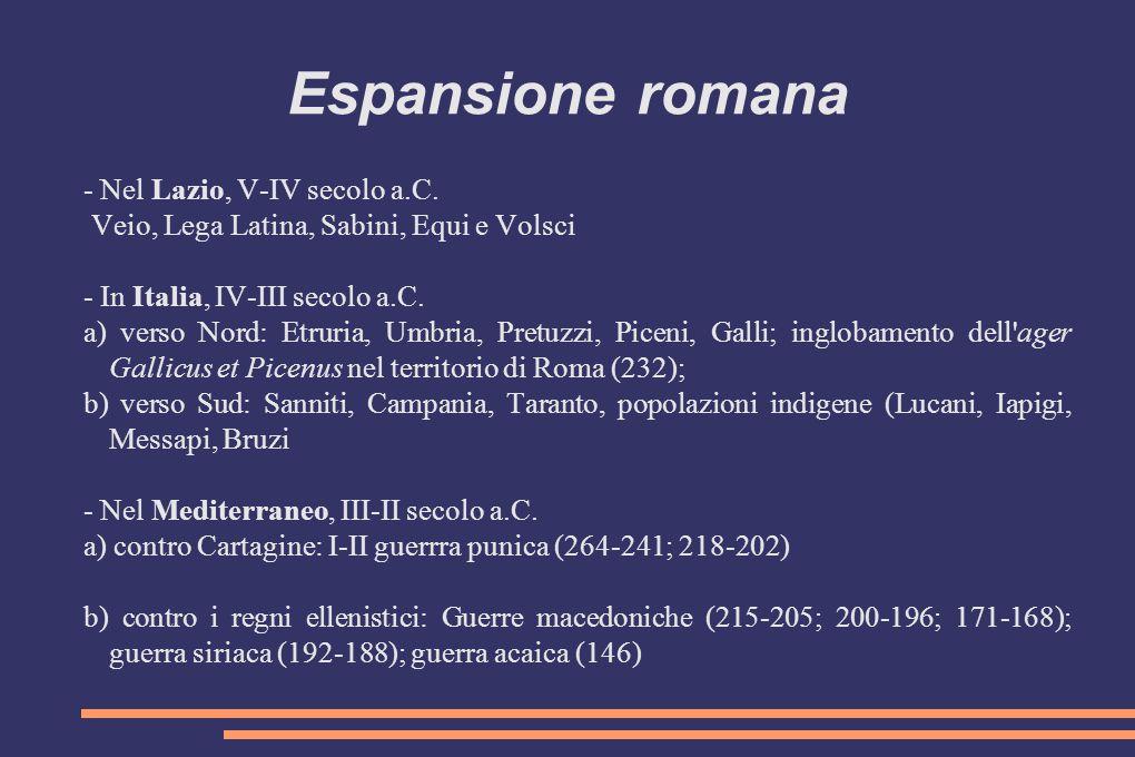 Espansione romana - Nel Lazio, V-IV secolo a.C.