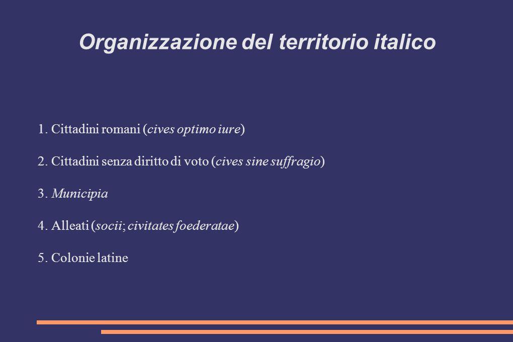Organizzazione del territorio italico