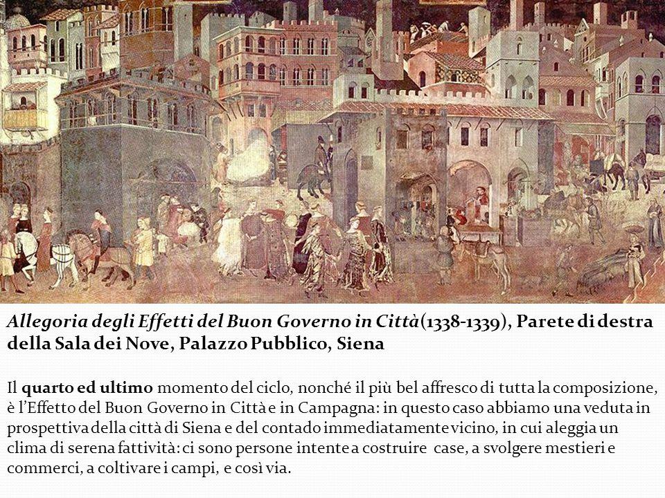 Allegoria degli Effetti del Buon Governo in Città(1338-1339), Parete di destra della Sala dei Nove, Palazzo Pubblico, Siena
