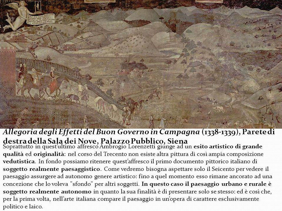 Allegoria degli Effetti del Buon Governo in Campagna (1338-1339), Parete di destra della Sala dei Nove, Palazzo Pubblico, Siena