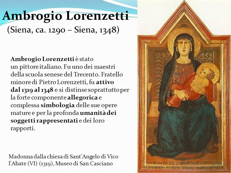 Ambrogio Lorenzetti (Siena, ca. 1290 – Siena, 1348)