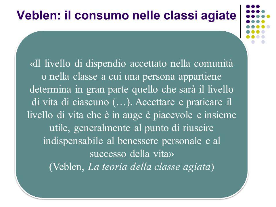 Veblen: il consumo nelle classi agiate