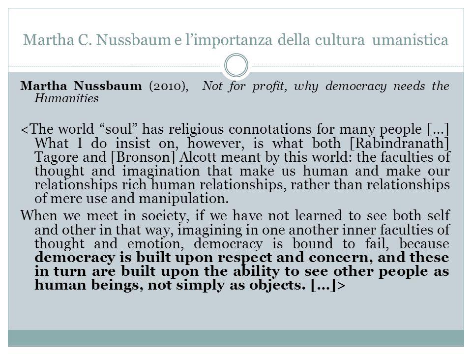 Martha C. Nussbaum e l'importanza della cultura umanistica