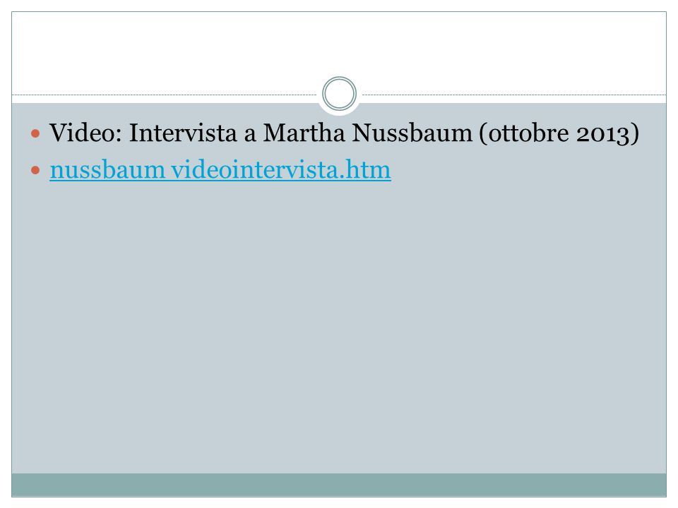 Video: Intervista a Martha Nussbaum (ottobre 2013)