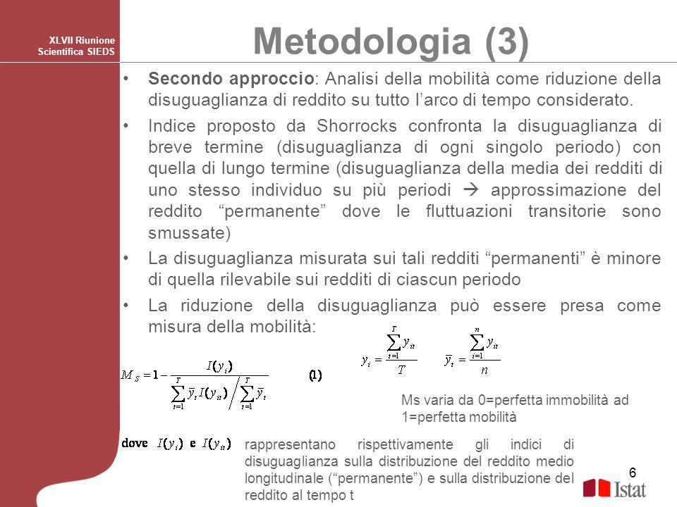 Metodologia (3) XLVII Riunione Scientifica SIEDS.