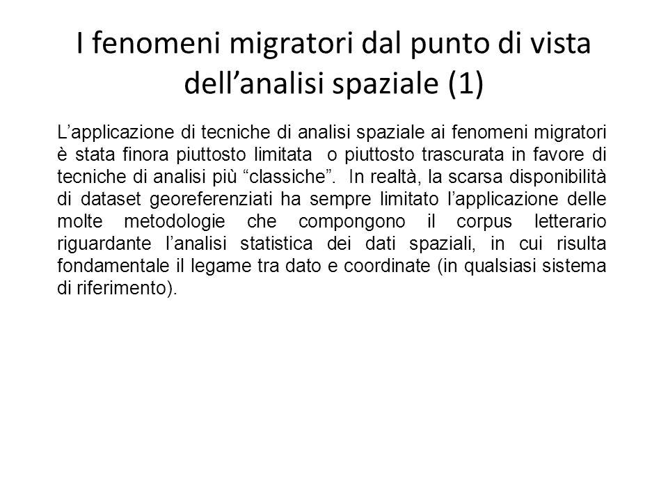 I fenomeni migratori dal punto di vista dell'analisi spaziale (1)