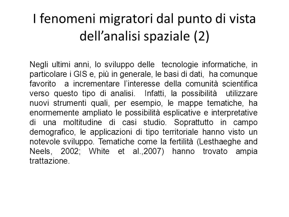 I fenomeni migratori dal punto di vista dell'analisi spaziale (2)