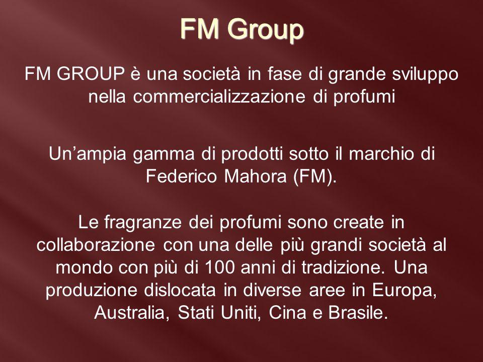 Un'ampia gamma di prodotti sotto il marchio di Federico Mahora (FM).