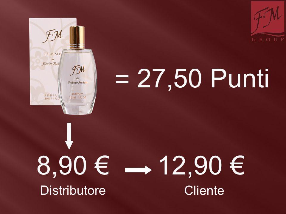 = 27,50 Punti 8,90 € 12,90 € Distributore Cliente