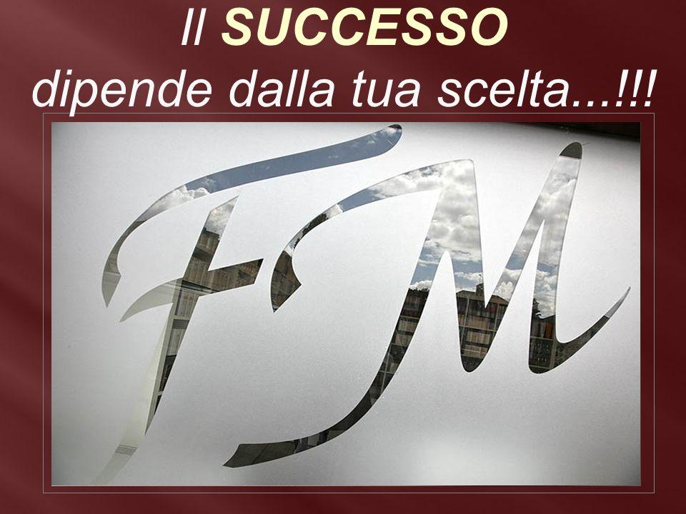 Il SUCCESSO dipende dalla tua scelta...!!!