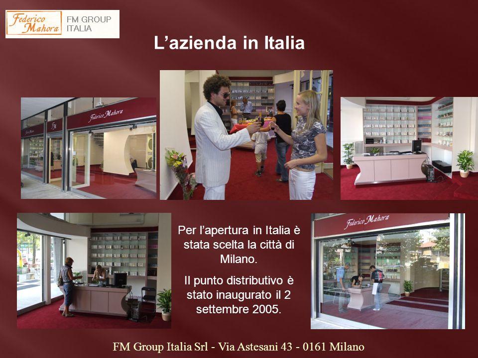L'azienda in Italia Per l'apertura in Italia è stata scelta la città di Milano. Il punto distributivo è stato inaugurato il 2 settembre 2005.