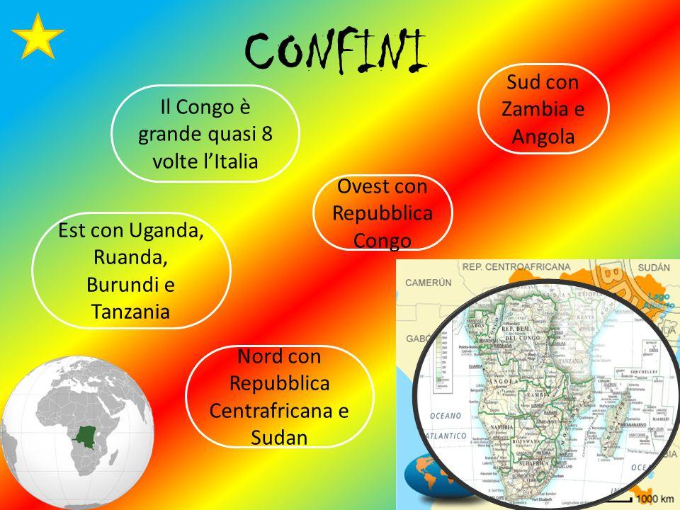 CONFINI Sud con Zambia e Angola