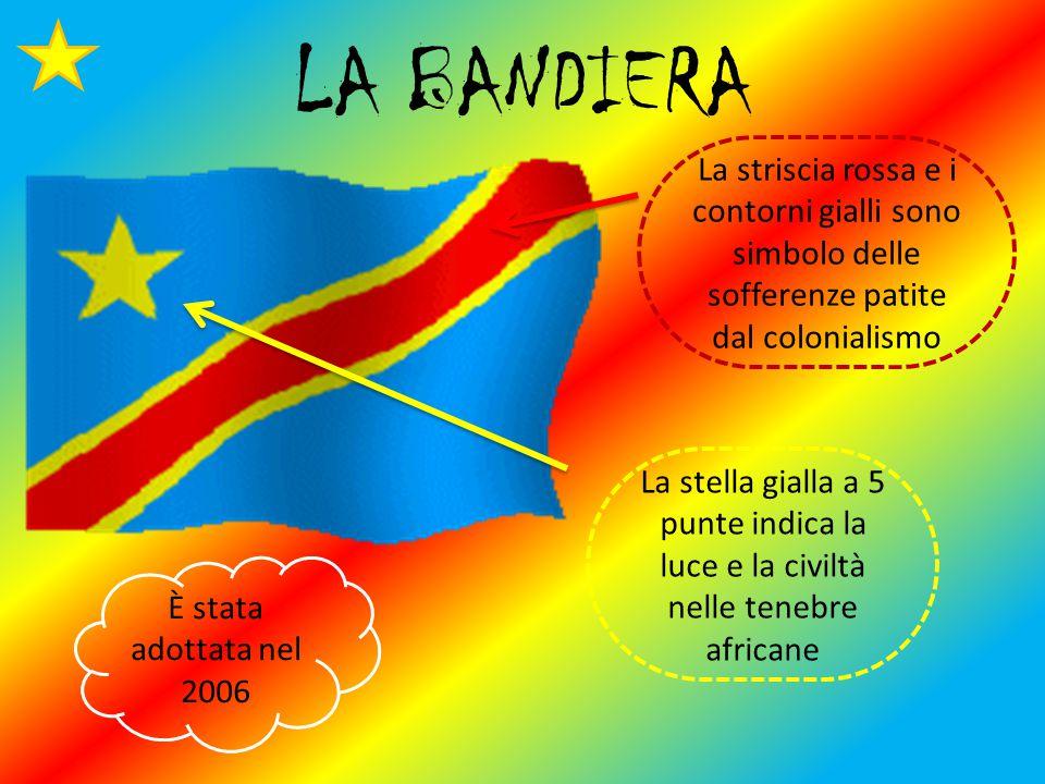 LA BANDIERA La striscia rossa e i contorni gialli sono simbolo delle sofferenze patite dal colonialismo.