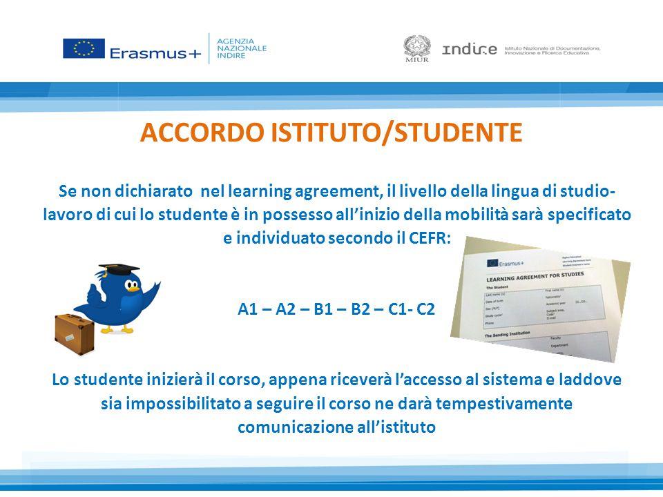 ACCORDO ISTITUTO/STUDENTE