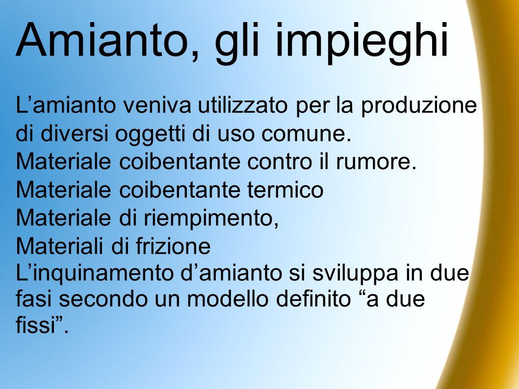 Amianto, gli impieghiL'amianto veniva utilizzato per la produzione di diversi oggetti di uso comune.
