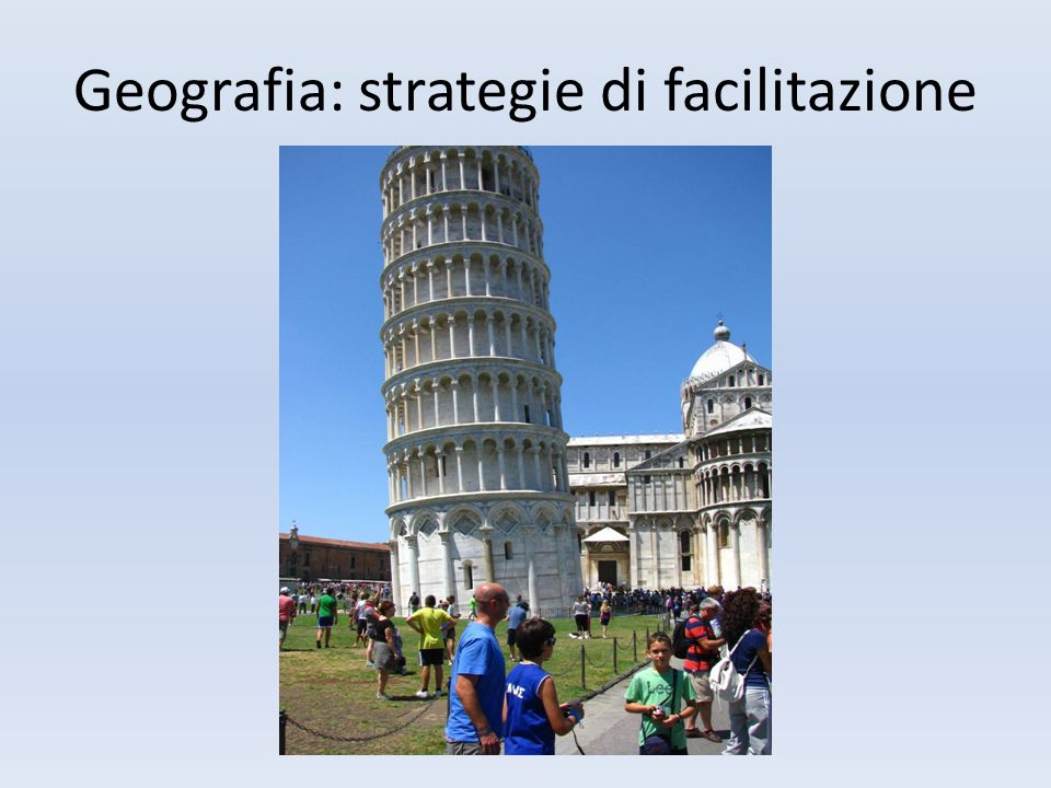 Geografia: strategie di facilitazione