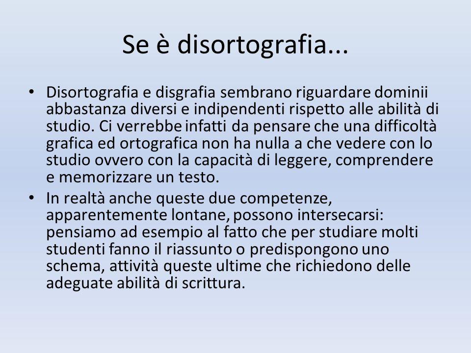 Se è disortografia...