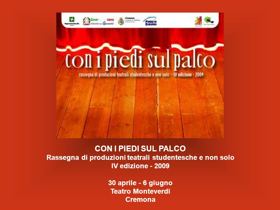 30 aprile - 6 giugno Teatro Monteverdi Cremona
