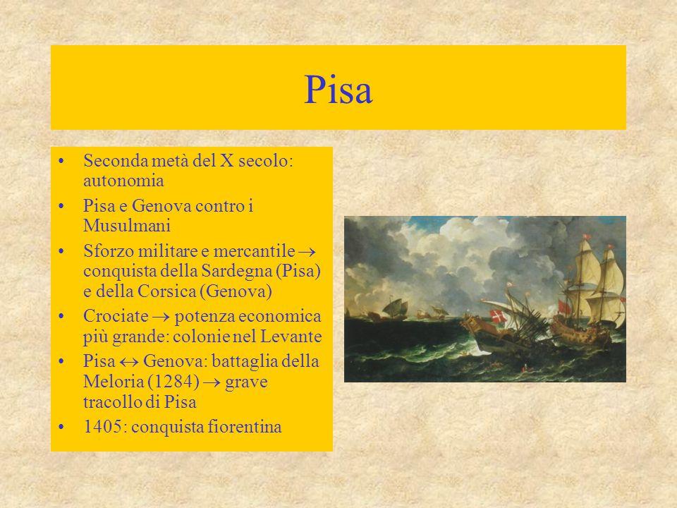 Pisa Seconda metà del X secolo: autonomia