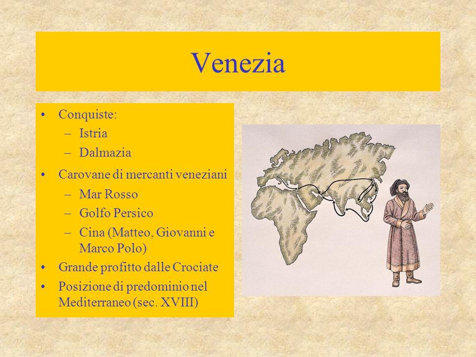 Venezia Conquiste: Istria Dalmazia Carovane di mercanti veneziani