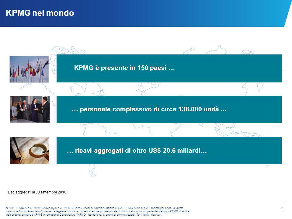 KPMG nel mondo KPMG è presente in 150 paesi ...