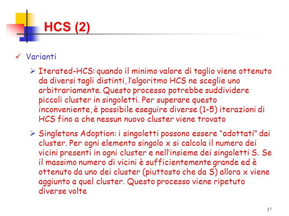 HCS (2) Varianti.