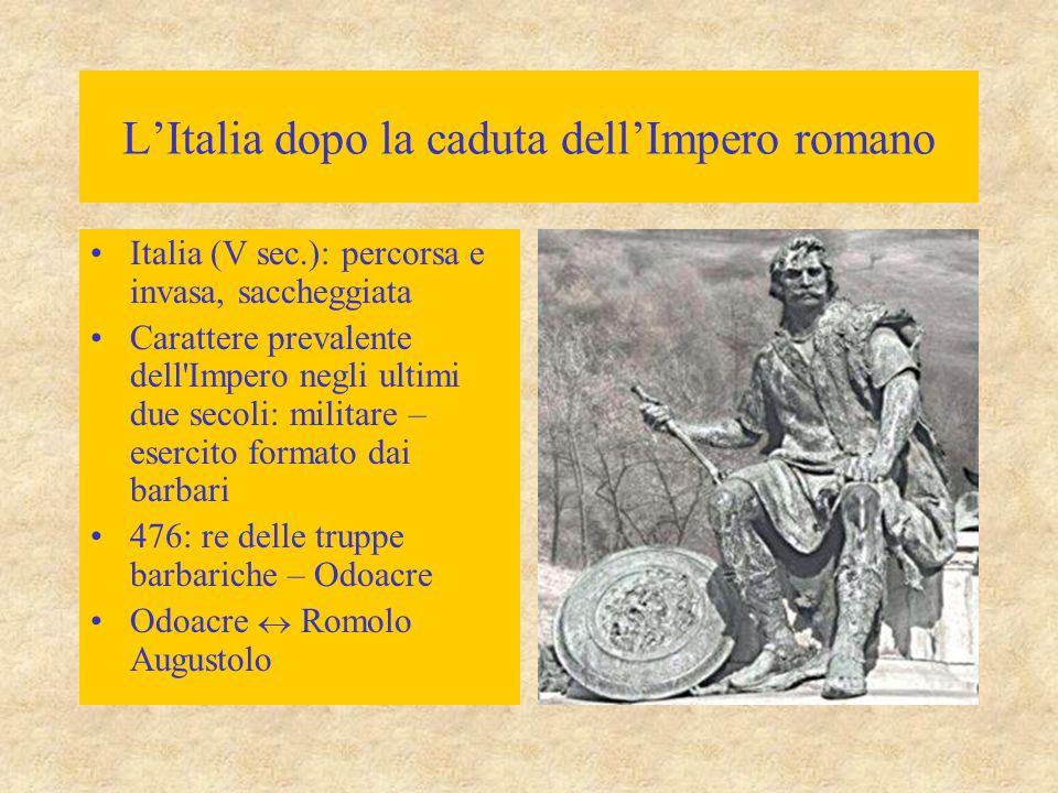 L'Italia dopo la caduta dell'Impero romano