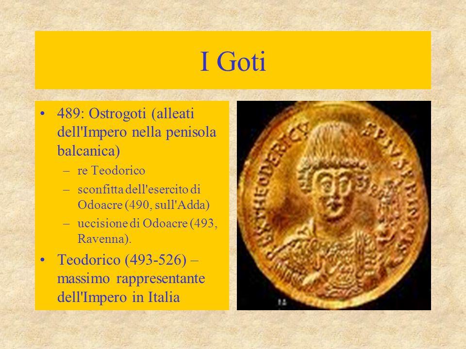 I Goti 489: Ostrogoti (alleati dell Impero nella penisola balcanica)
