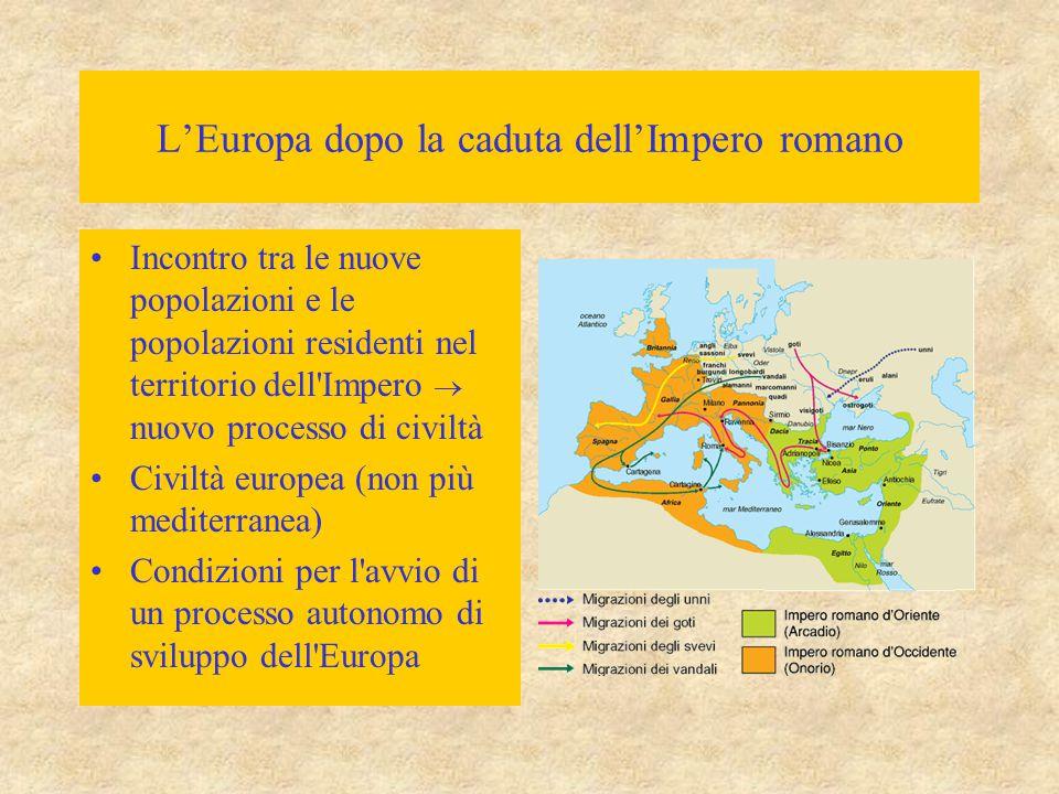 L'Europa dopo la caduta dell'Impero romano