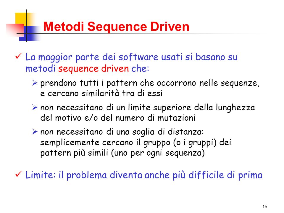 Metodi Sequence Driven