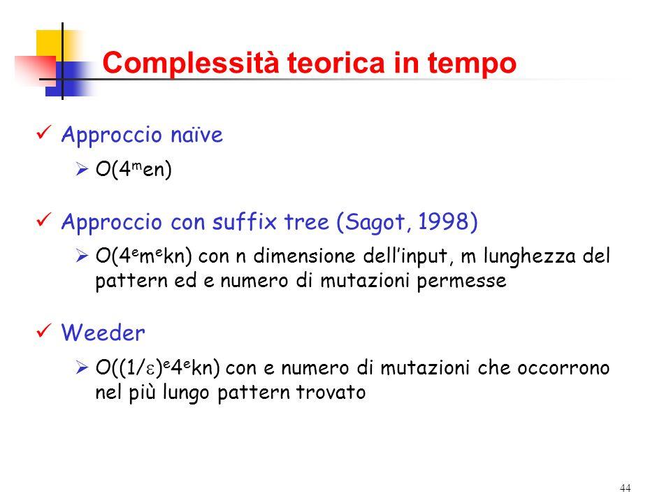 Complessità teorica in tempo