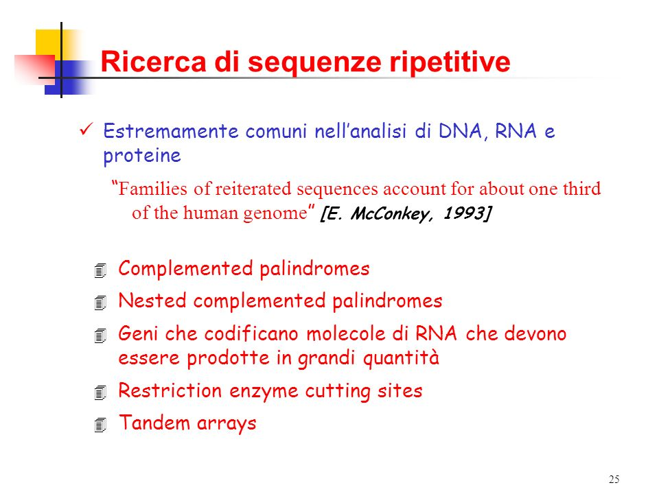 Ricerca di sequenze ripetitive