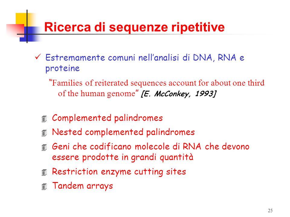 Ricerca di sequenze ripetitive