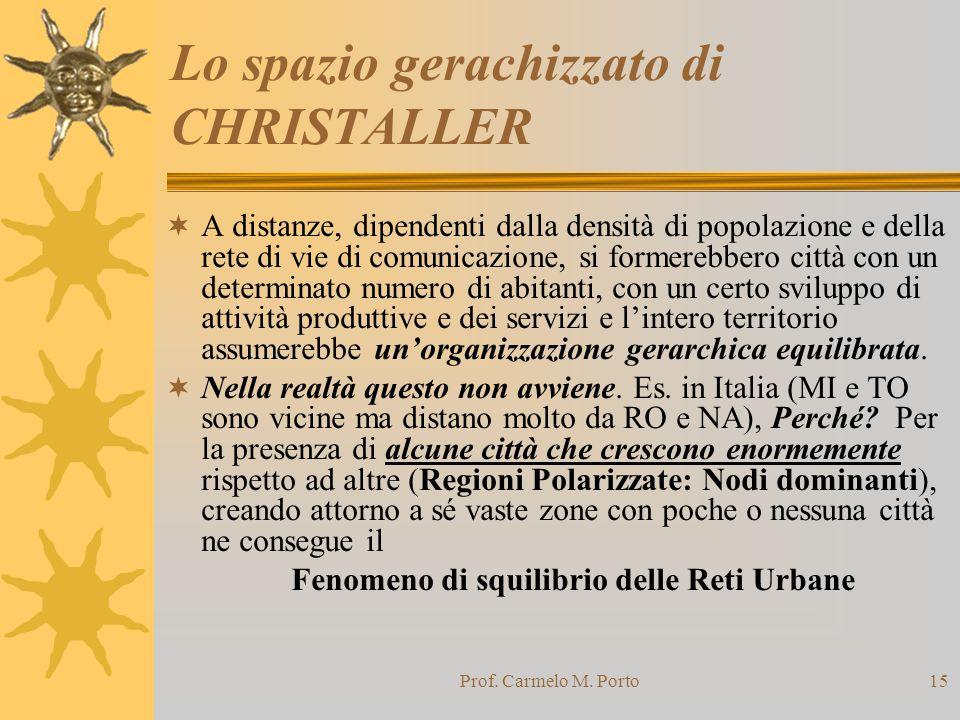 Lo spazio gerachizzato di CHRISTALLER