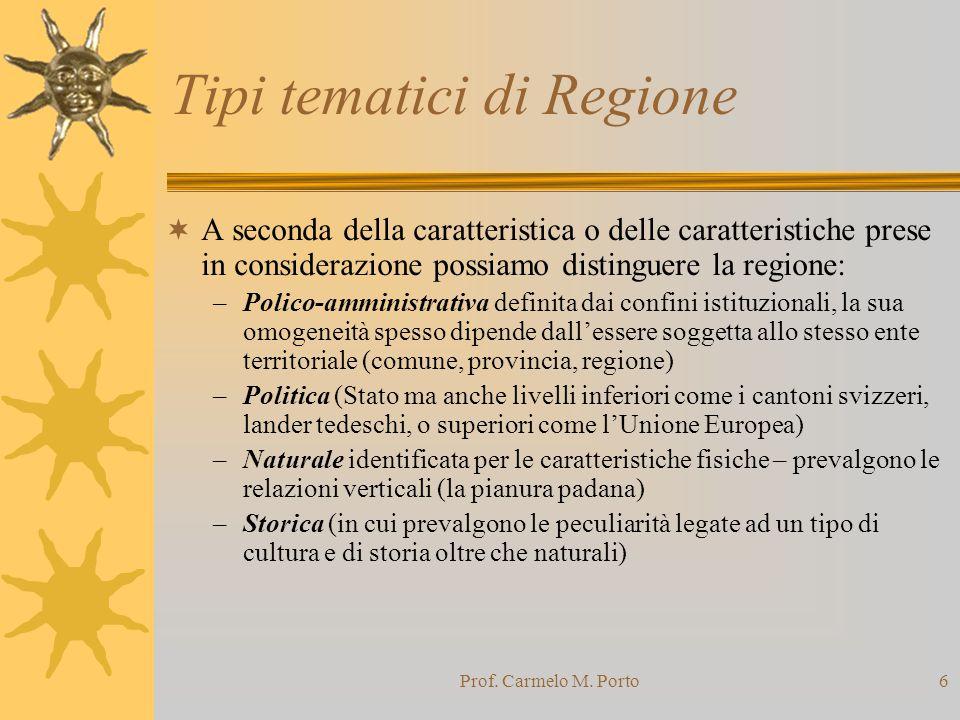 Tipi tematici di Regione